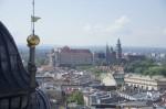 v pozadí hrad Wawel