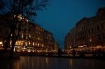 Rynek glowny v noci